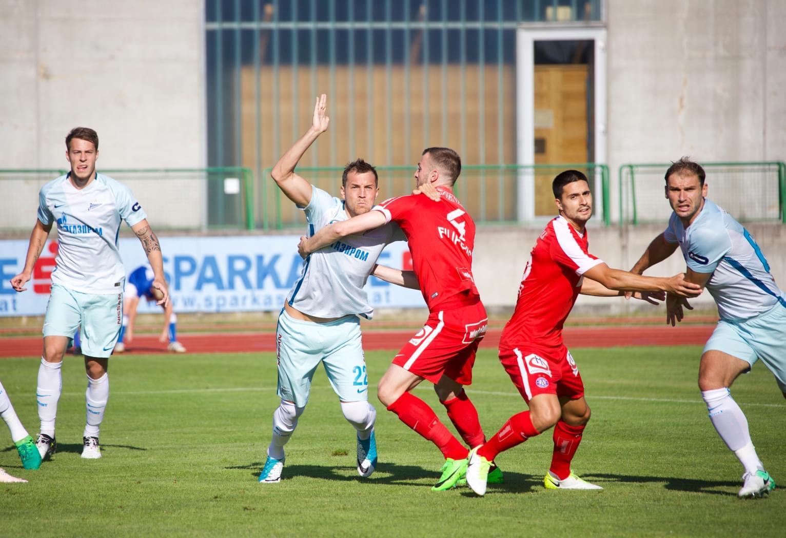 «Зенит» одержал волевую победу над «Аустрией»