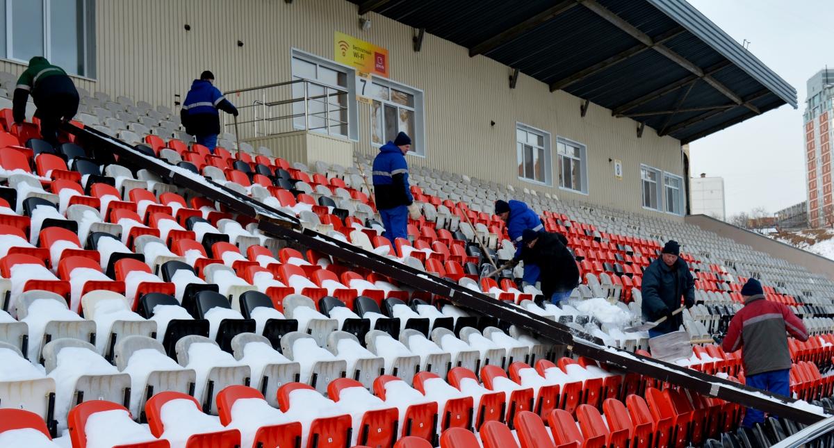 На стадионе «Звезда» началась подготовка к весенней части сезона