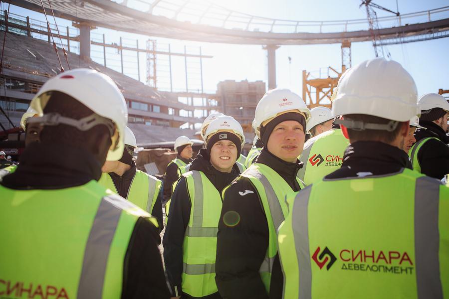 Футболисты «Урала» впервые посетили «Екатеринбург-Арену»