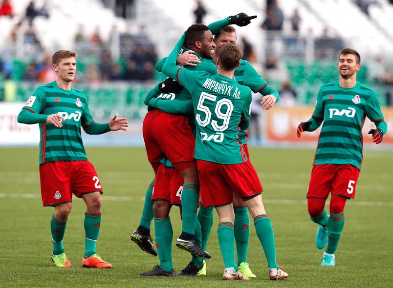 Матчем Уфа— Локомотив продолжился 21 тур чемпионата Российской Федерации пофутболу