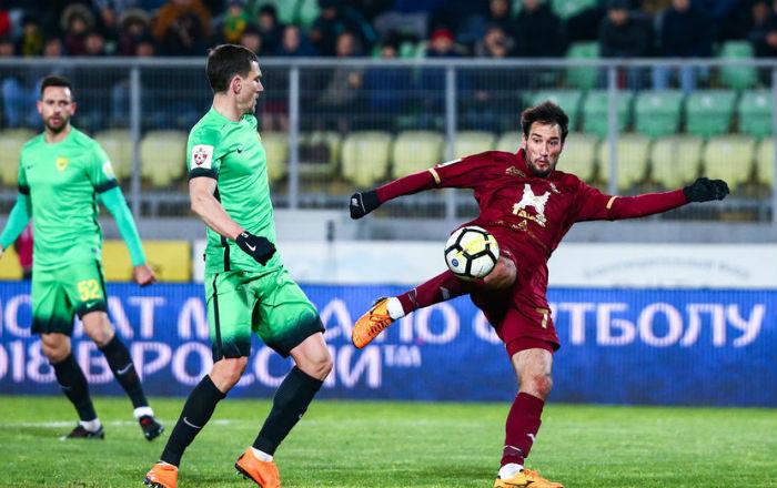 «Рубин» не смог удержать победу в матче с «Анжи»