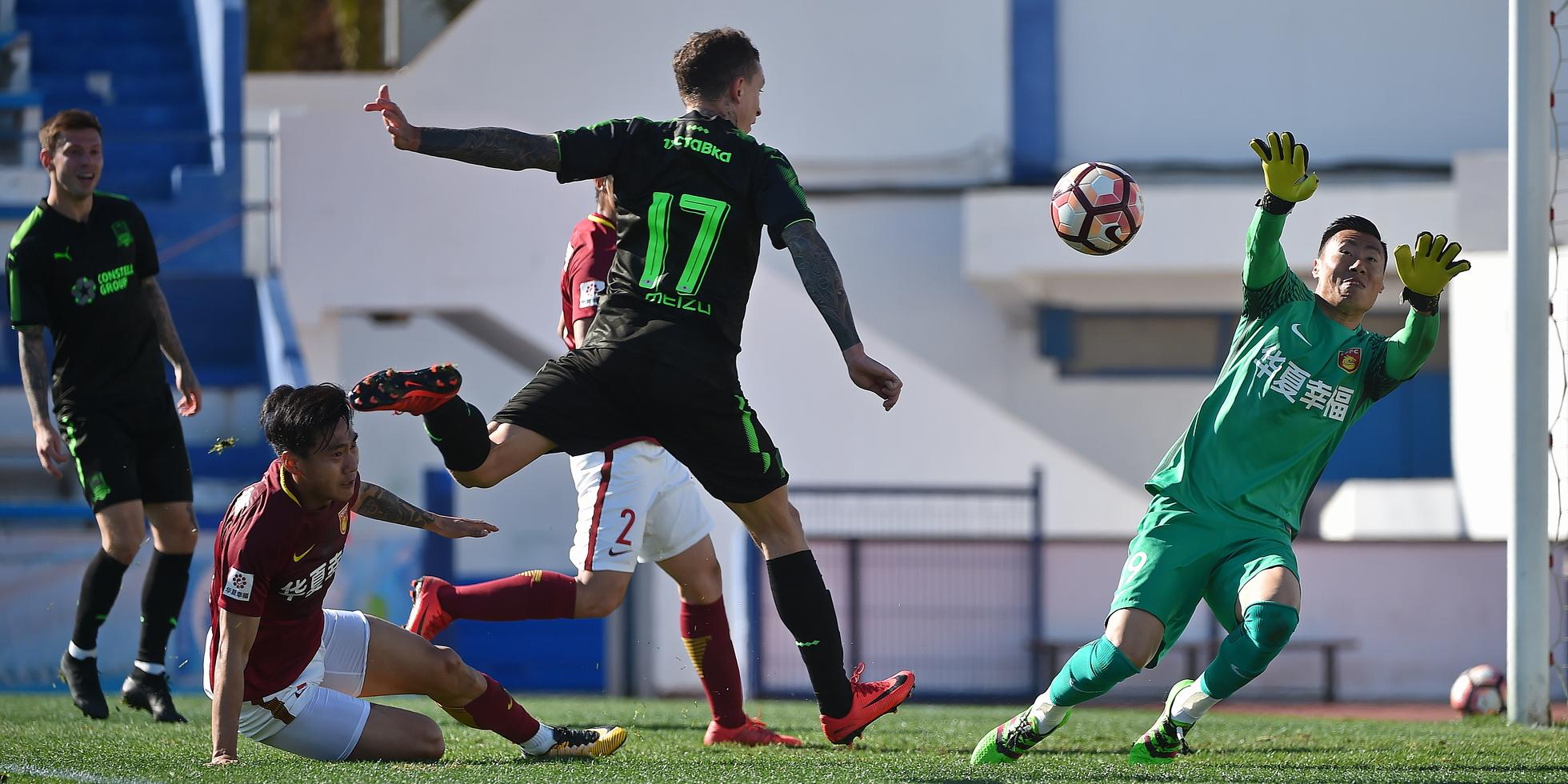 «Краснодар» забил семь мячей в ворота «Хэбэй Чайна Форчун»