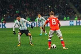 Болельщики на матче Россия -  Аргентина 0:1